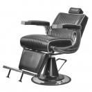 Кресло для барбершопа Челленджер черный глянцевый с белым кантом