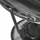 Кресло для барбершопа Челленджер черный глянцевый с черным кантом