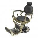 Кресло для барбершопа Ричард полированный каркас медного цвета